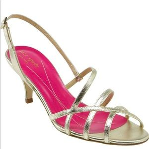 Kate Spade | Gold Strappy Emily Heels Sz 8.5